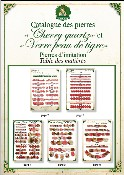 Catalogue cherry quartz et verre peau de tigre